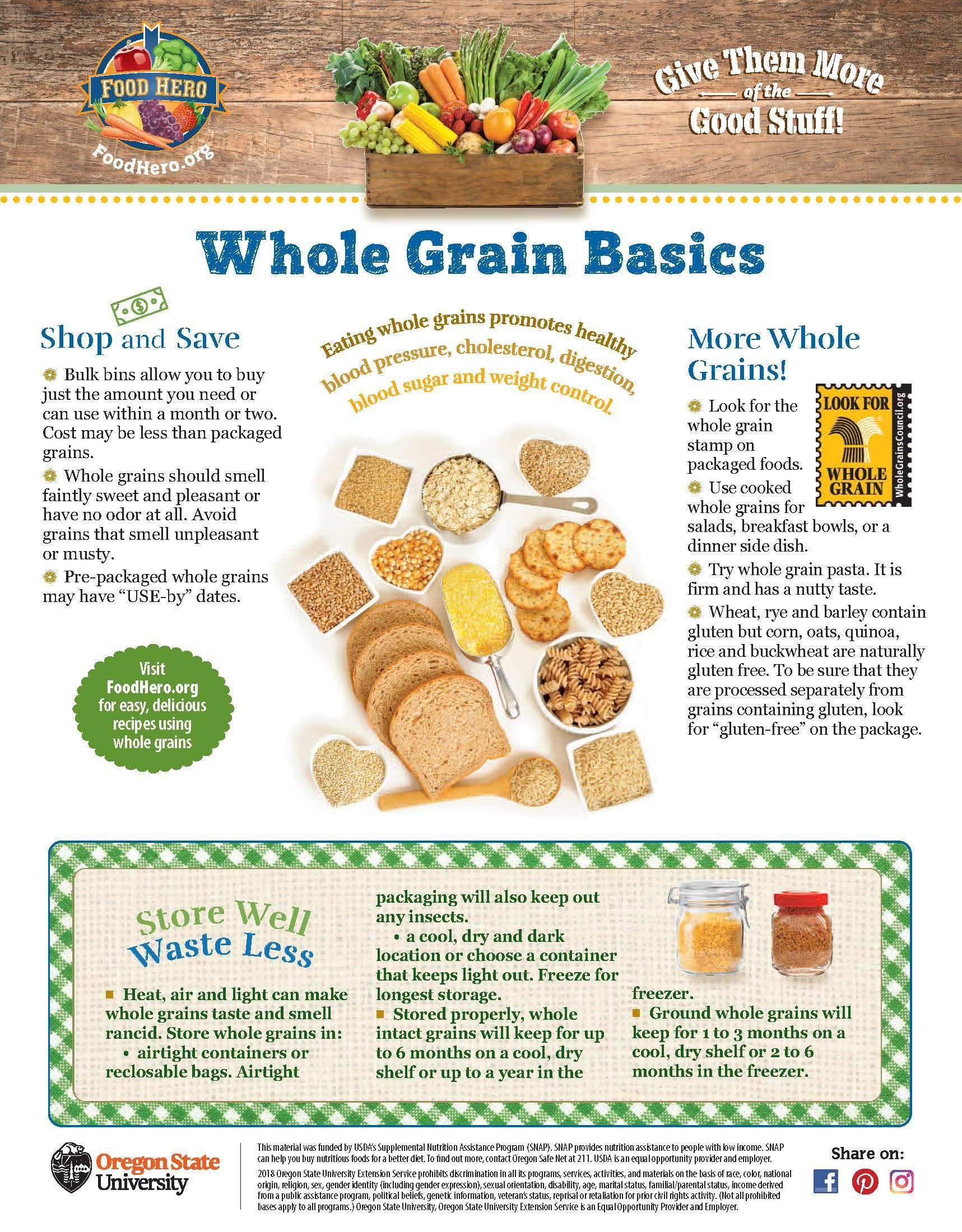 Whole Grains Food Hero Monthly