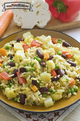 Photo of Indian Vegetable and Rice Skillet Meal
