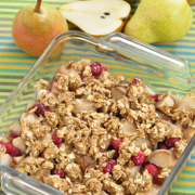 Photo of Pear and Cranberry Crisp