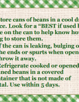 Store Well Waste Less Beans