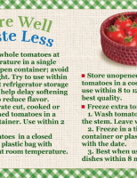Store Well Waste Less Tomatoes